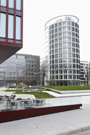 germany view of sandtorpark in hafencity
