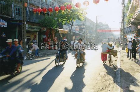 vietnam saigon street scene