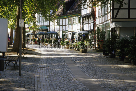 germany bad essen kirchplatz timbered houses