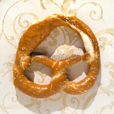 pretzel with salt close up