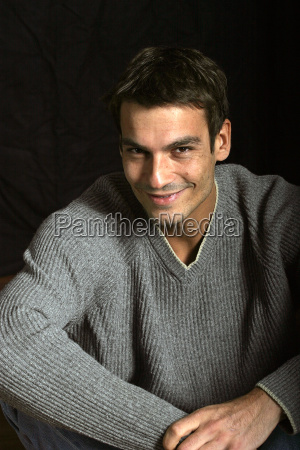 young man smiling portrait