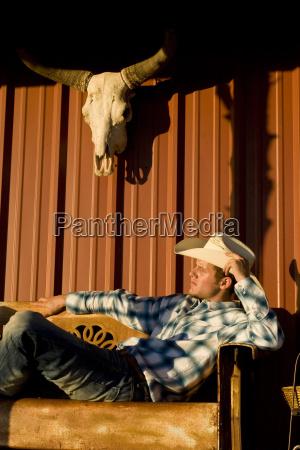 usa texas dallas cowboy sitting on
