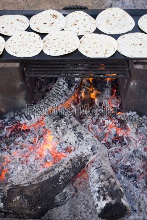 usa texas dallas pancakes on barbecue