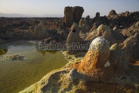 ethiopia danakil desert lake assal hornitos