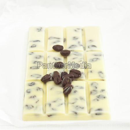 chocolate with coffee flavour close up