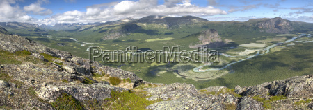 sweden lapland view of rapa valley