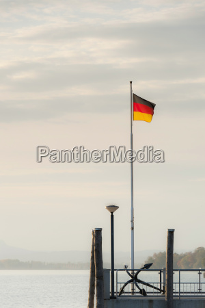 germany allensbach view of german flag