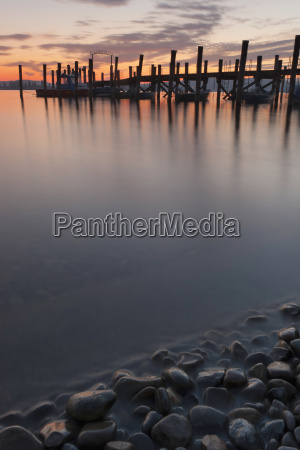 germany allensbach view of jetty and