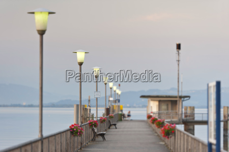 germany wasserburg view of jetty at