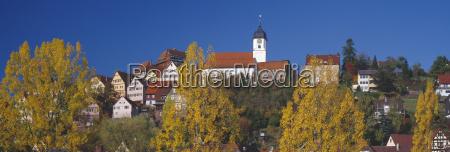 germany baden wuerttemberg schwarzwald altensteig church