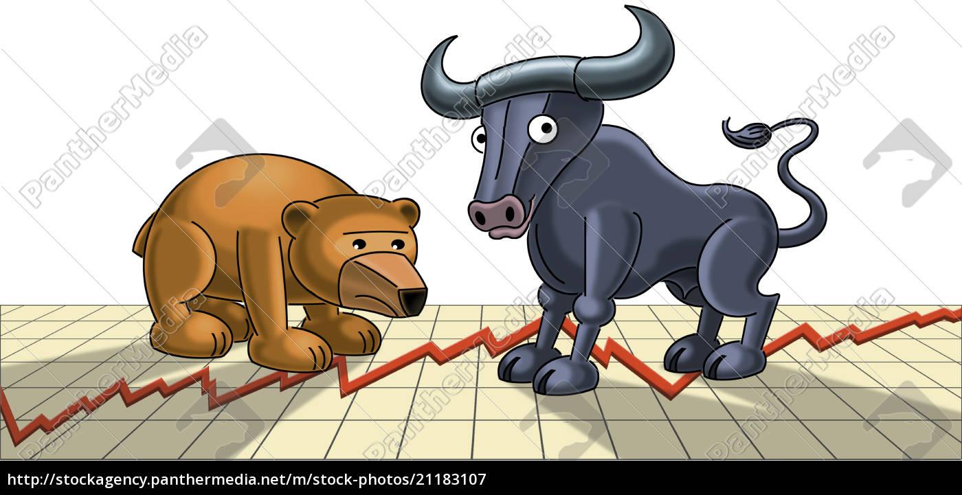 illustration, bull, und, tragen, figuren, auf, grafik - 21183107