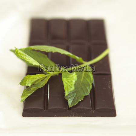 schokolade, mit, pfefferminzgeschmack, close-up - 21183407