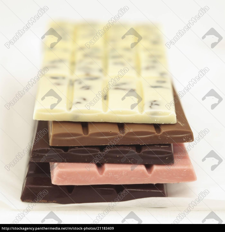 schokoladenstangen, mit, unterschiedlichen, geschmacksrichtungen - 21183409