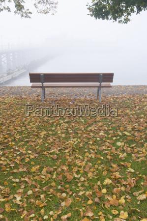germany hagnau lake constance deserted bench