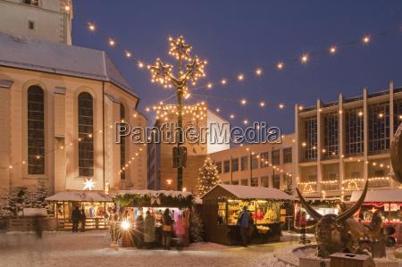 germany friedrichshafen christmas market on adenauerplatz