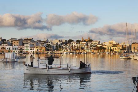 spain balearic islands majorca portocolom fishermen