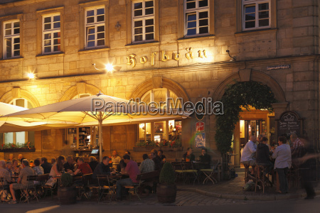 germany bavaria bamberg people in hofbraeuhaus