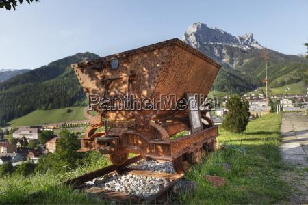 Österreich, steiermark, eisenerz, blick, auf, den, wagen, für, erztransport - 21185995