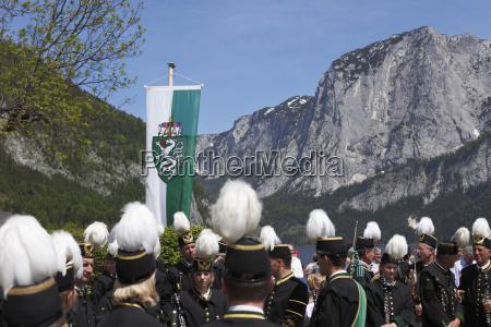 austria styria people celebrating daffodil festival