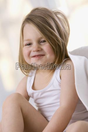 little girl 3 4 smiling portrait