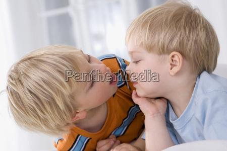 boy 2 3 years alongside boy