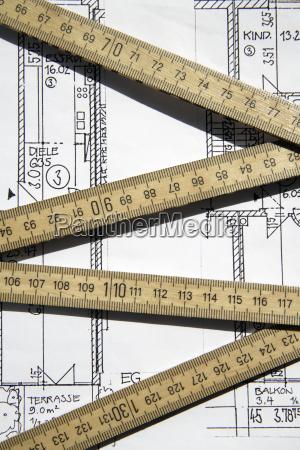 planung baustil architektur baukunst zeichnung photo