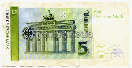 banknote deutschmark close up