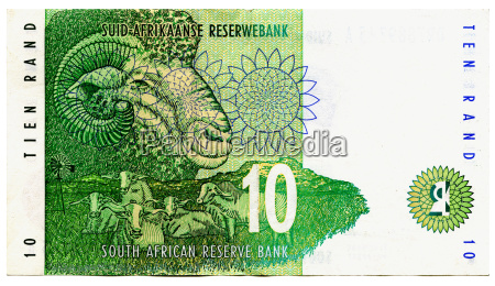 ten rand banknote south africa