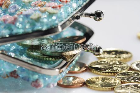 geldboerse mit wechselgeld detail