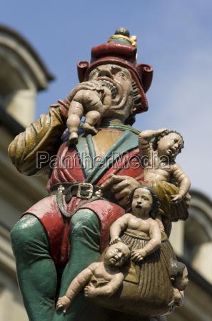switzerland bern kindlifresserbrunnen close up