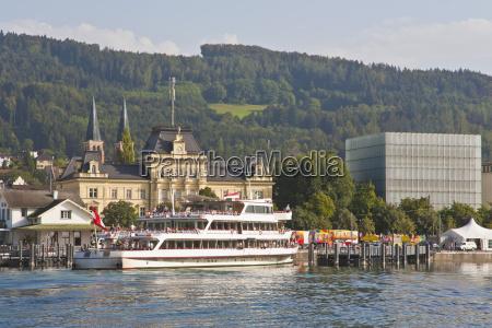 austria vorarlberg view of excursion boat