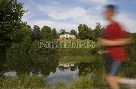 germany baden wuerttemberg stuttgart lake baerensee