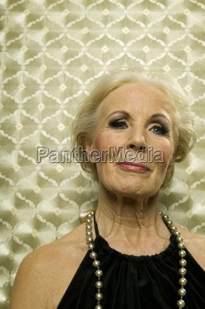 senior woman smiling portrait close up