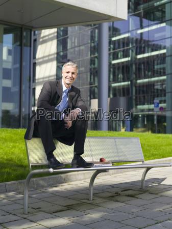 germany baden wuerttemberg stuttgart businessman taking