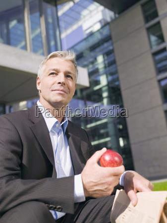 germany baden wuerttemberg stuttgart businessman holding