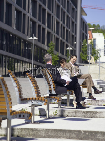 germany baden wuerttemberg stuttgart businesspeople with