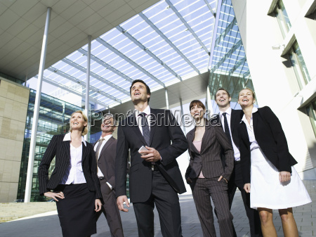 germany baden wuerttemberg stuttgart businesspeople laughing