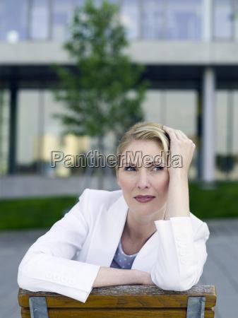 germany baden wuerttemberg stuttgart businesswoman taking