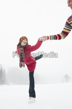 italy south tyrol seiseralm woman ice