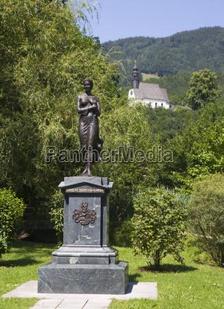 austria mondsee almeide memorial with view
