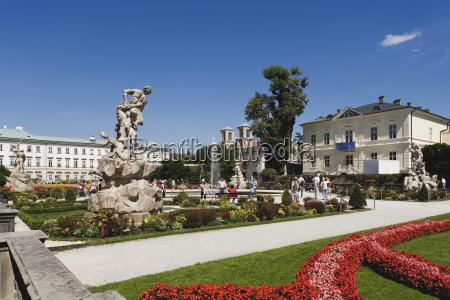 austria salzburg mirabell palace mirabell gardens