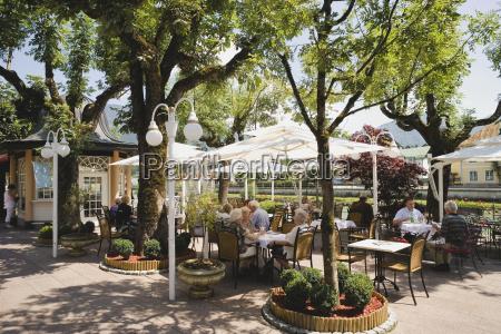 austria salzkammergut bad ischl spa gardens