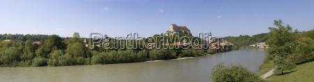 germany upper bavaria burghausen at river
