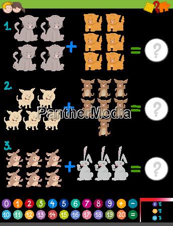addition maths game for children