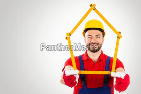 home improvement handyman with house