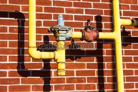close up of pipes in front