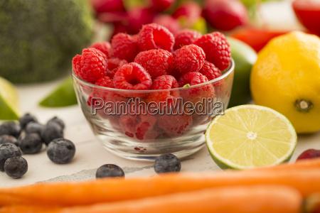 stilleben frische horizontal frucht obst gemuese