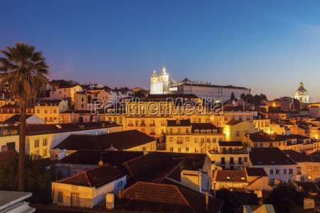 portugal lisbon panorama of lisbon old