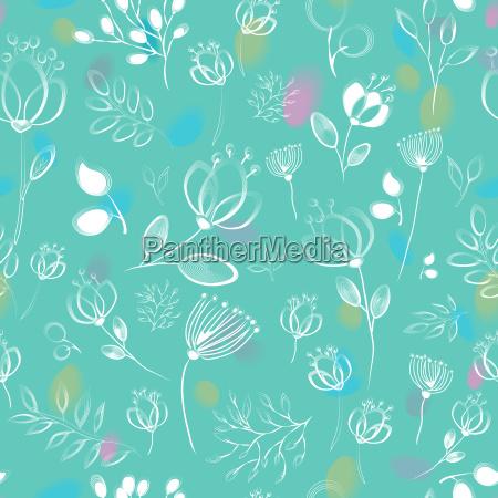 blau blume blumen pflanze nahtlos wasserfarbe