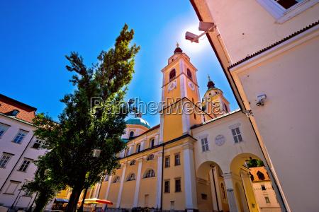 city of ljubljana church and square